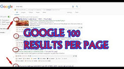 google 100 results per page,  chrome settings, google search results, Google Chrome search results