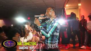Dexta Daps - Tifa - Bugle - live Performnace -  Queens - Pure  Connections