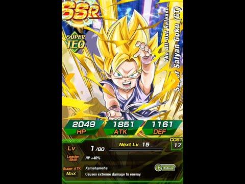 DBZ Dokkan Battle - Dokkan Awakening SSJ Goku GT