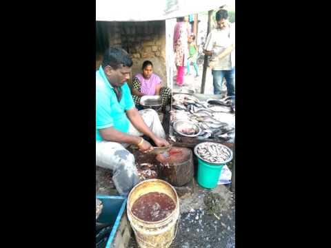 Fresh fish street food,  Pune, India