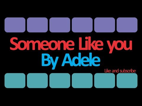 Video Lirik Lagu Adele - Someone Like You (Terjemahan Bahasa Indonesia)