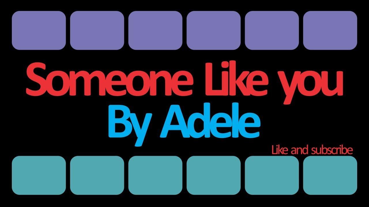 lirik lagu someone like you