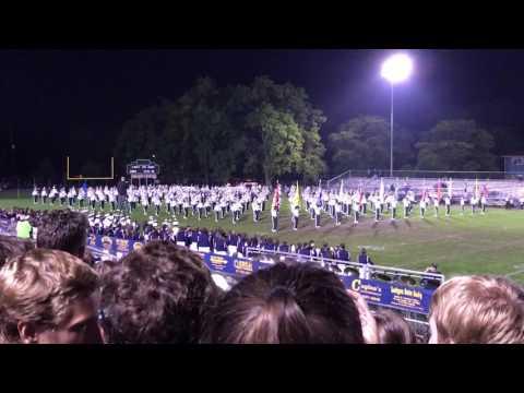 MSU marching band at Grand Ledge high school 2016