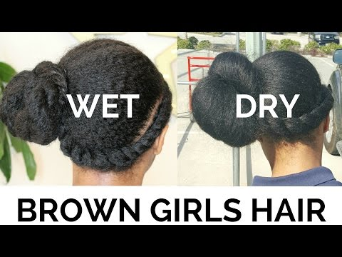Easy One Ponytail Hairstyle On WET Hair