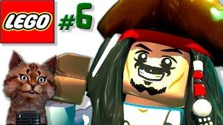 Лего Мультик Пираты Карибского моря смешной перевод [6] Джек Воробей на острове(Смешная озвучка прохождения лего игры в виде мультика