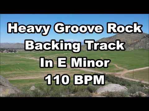Heavy Groove Rock backing track In E minor 110 BPM