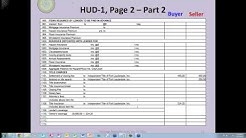 Reviewing the HUD-1 Closing Statement