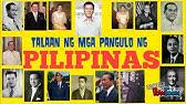 MGA dating pangulo ng Pilipinas