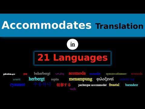 ACCOMMODATES Translation in 21 Languages