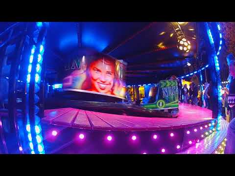 John Ives night rider waltzer fair ride   Thame fair 2019