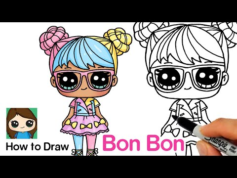 How to Draw Bon Bon | LOL Surprise Dolls