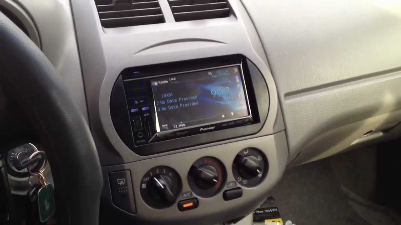 Nissan Altima 2002 With Pioneer Avh P3300bt Youtube