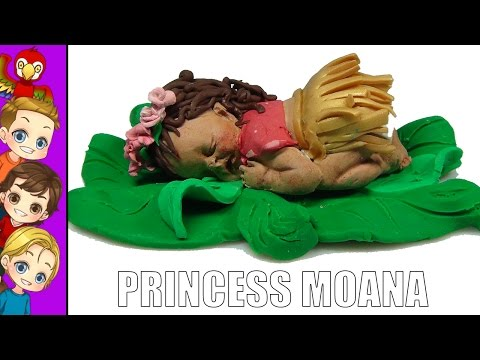 How to Make Disney Princess Moana | Moana Baby | Miniature Moana Baby Doll Tutorial Do It Yourself