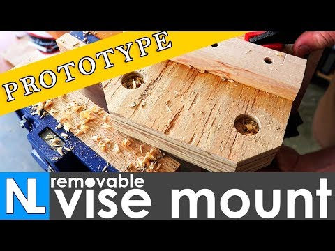 Removable vise mount | prototype woodworking