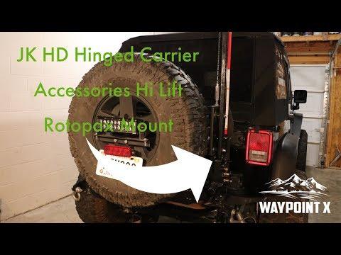 Teraflex Hinged Tire Carrier - Accessories Mount Install