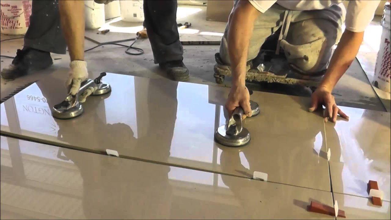 Porcelain tiles 2x4 24x48 installation  Polmasters