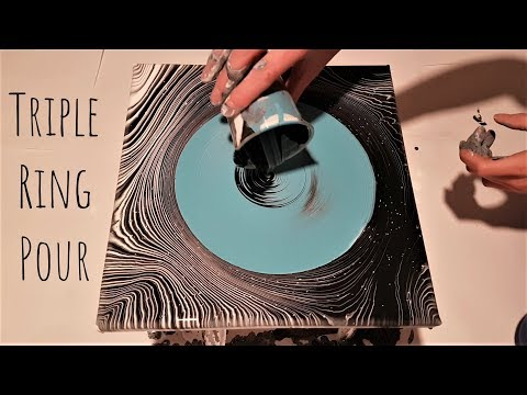 TRIPLE Ring Pour | NOT Easy Fluid Painting | Relaxing Art