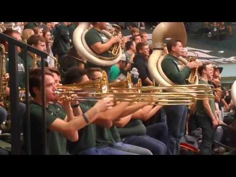2016 Dec 2 Spartan Brass and MSU Fight Song at NCAA Volleyball at Jenison