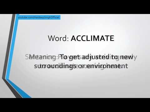 acclimate definition. 1:10 acclimate definition