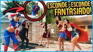 5 MENINOS VS 5 MENINAS: ESCONDE ESCONDE FANTASIA!! [ REZENDE EVIL ]