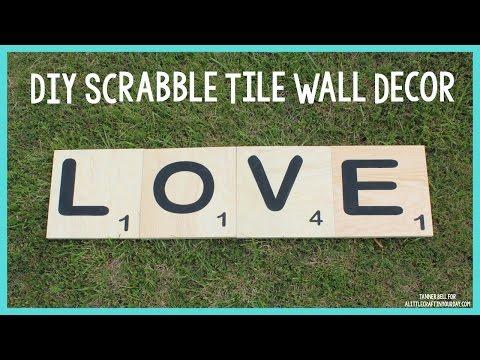 DIY Scrabble Tile Wall Decor | Mother's Day DIY Gift Idea