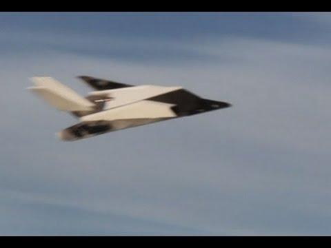 Depron F117 - maiden flight - YouTube