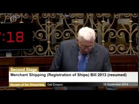 Deputy Sean Kenny speaking on  the Merchant Shipping Registration of Ships Bill 2013