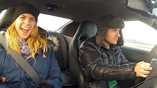 Nissan GTR 700hp Launch Control Reaction with young girls and man c...