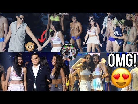 Maine Mendoza at BENCH 30th Event With Richard Gutierrez and Julia barretto and Kathryn Bernardo