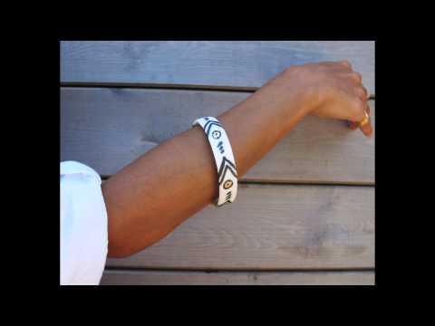 Porcelain bracelet Ceramic Cuff Bracelet Hand Painted contemporary ceramic jewelry