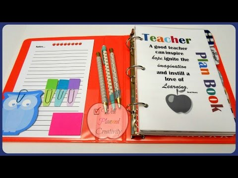 Teacher Planner Set-Up