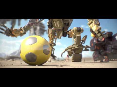 "Ryan J  Harrison Resound - ""Flux"" CGI Animated Robot Football short by High Sim Studios"