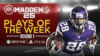 Madden 25 Plays of the Week - Round 1 | Xbox One & PS4