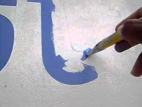 Como pintar a letra t avi youtube for Como pintar puertas de sapeli