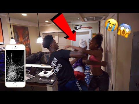 I DESTROYED MY GIRLFRIEND IPHONE 7 PRANK!!! (GONE VIOLENT)