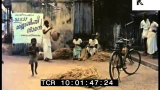1950s India, Streets, Rare 35mm Colour Archive Footage, Cochin, Kochi