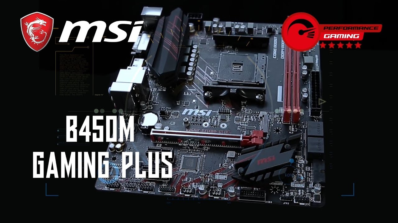 Red GAMING DNA lives on! B450M GAMING PLUS | Gaming Motherboard | MSI