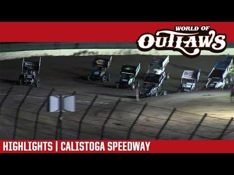 World of Outlaws Craftsman Sprint Cars Calistoga Speedway September 15, 2018 | HIGHLIGHTS