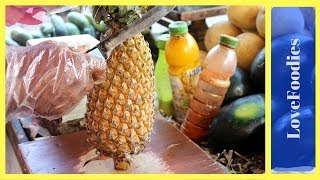 INDIAN NINJA STYLE FRUIT CUTTING | Amazing Fruits Cutting Skills in 2018 | Indian Street Food