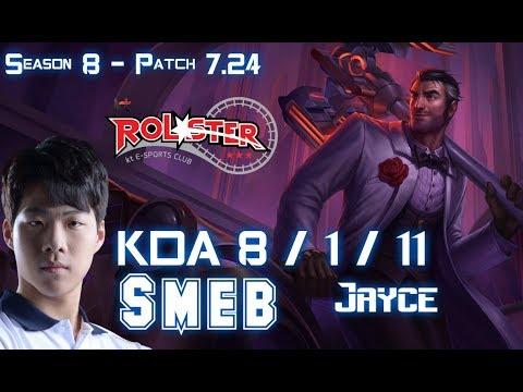 KT Smeb JAYCE vs MAOKAI Top - Patch 7.24 KR Ranked