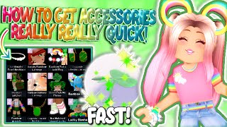 HOW TO GET TΗE ST PATRICKS DAY ACCESSORIES AS *QUICK AND EASY* AS YOU CAN! Royale High Lucky Update