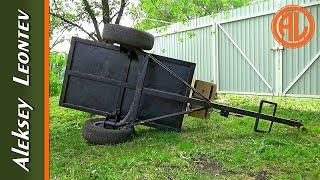 Размеры прицепа для мотоблока и минитрактора. Своими руками /Homemade trailer walk behind tractor