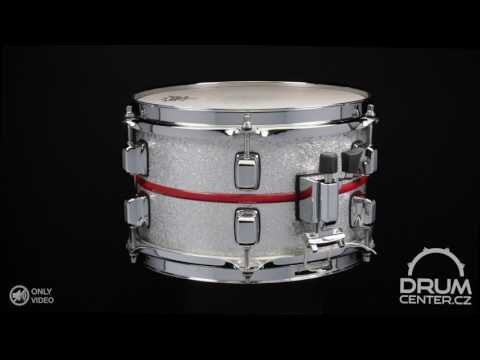 DC CUSTOM DRUMS Silver Sparkle US Maple Shell 10x6
