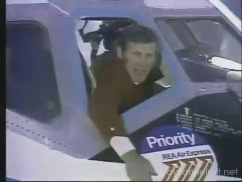 REA Air Express with George Blanda TV ad, 1973