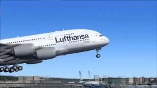 FS2004 Lufthansa A380-800 Frankfurt - San Francisco