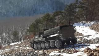 опасный спуск на вездеходе ГАЗ 71(ГТС)