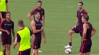 Allenamento Roma, seduta tattiche e partitelle. In gol Pastore, Coric, Perotti (doppietta) e Defrel