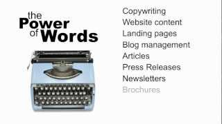The Power Of Words. Copy And Content Management Agency In Antibes, France.