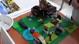 Лего-лагерь пещерного человека