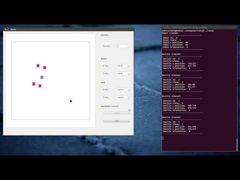 Rusty - Multi-Threaded Robot Simulation Software (C++ / Qt)
